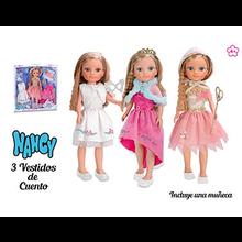 NANCY 3 VESTIDOS DE CUENTO CON MUÑECA