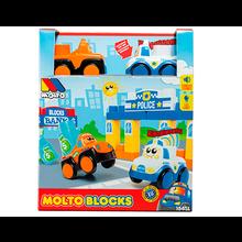 CAJA MOLTO BLOCKS 3 COCHES