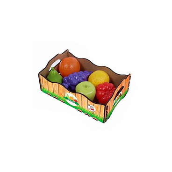 Caja de madera c/6 frutas