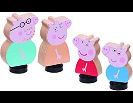 FAMILIA PIG 4 FIGURAS DE MADERA